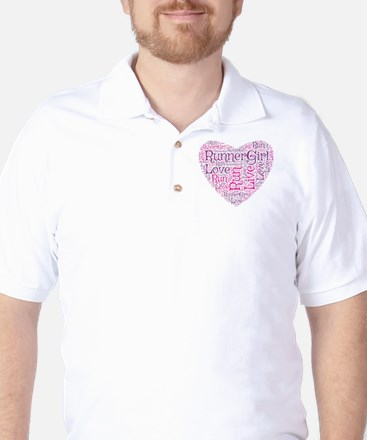 RunnerGirl Heart Golf Shirt