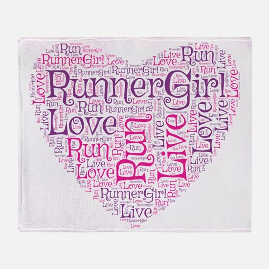 RunnerGirl Heart Throw Blanket