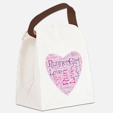 RunnerGirl Heart Canvas Lunch Bag