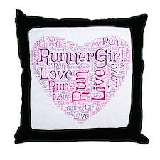 RunnerGirl Heart Throw Pillow