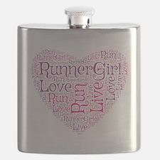 RunnerGirl Heart Flask