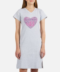 RunnerGirl Heart Women's Nightshirt
