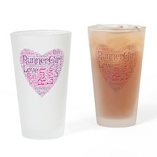 RunnerGirl Heart Drinking Glass
