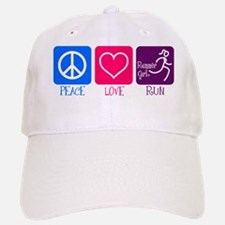 Peace-Love-Run Baseball Baseball Cap