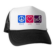 Peace-Love-Run Trucker Hat
