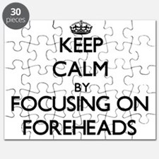Keep Calm by focusing on Foreheads Puzzle