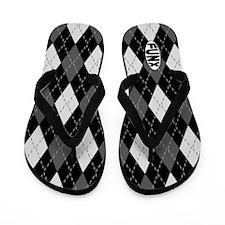Argyle (black) Flip Flops