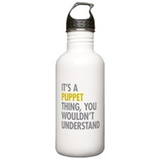 Its A Puppet Thing Water Bottle