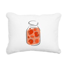 Stewed Jarred Tomatoes Rectangular Canvas Pillow