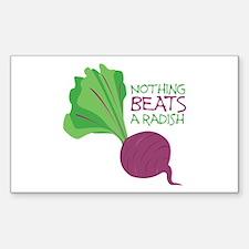 Nothing Beats Radish Decal