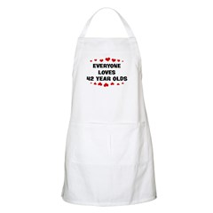 Everyone Loves 42 Year Olds BBQ Apron