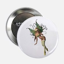 Green Wing Fairy Button