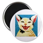 One Cat Laughing Magnet