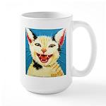 One Cat Laughing Large Mug