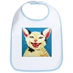 One Cat Laughing Bib