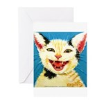 One Cat Laughing Greeting Cards (Pk of 10)