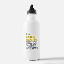 Quantum Computing Thin Water Bottle