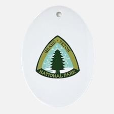 Grand Teton Ornament (Oval)