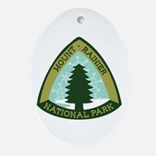 Mount Rainer Ornament (Oval)
