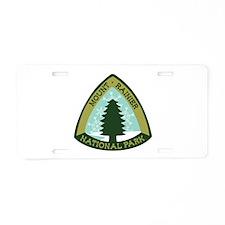 Mount Rainer Aluminum License Plate