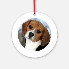 Snow Days Beagle Puppy Ornament (Round)