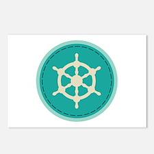 Boat Wheel Postcards (Package of 8)