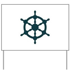 Ship Wheel Yard Sign
