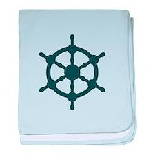 Ship Wheel baby blanket