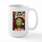 Alien Abduction Cat Large Mug