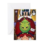Alien Abduction Cat Greeting Cards (Pk of 10)