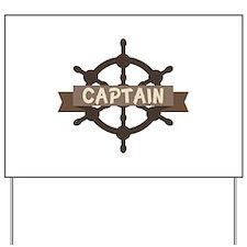 Captain Wheel Yard Sign