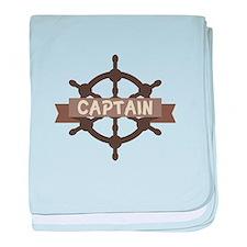 Captain Wheel baby blanket