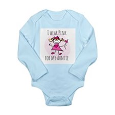 Pink for Auntie Long Sleeve Infant Bodysuit