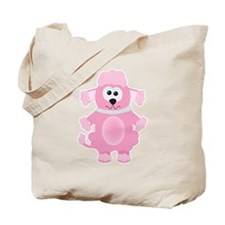 Silly Goofkins Pink Poodle Tote Bag