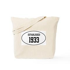 Established 1933 Tote Bag