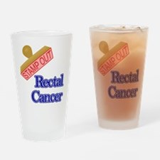 Rectal Cancer Drinking Glass