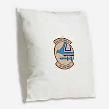 VP9_golden_eagle.png Burlap Throw Pillow