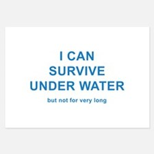 I Can Survive Under Water Invitations