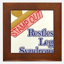 Restless Legs Syndrome Framed Tile