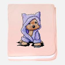 Yorkie Bath Bear baby blanket