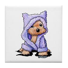 Yorkie Bath Bear Tile Coaster