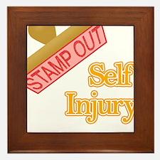 Self Injury Framed Tile