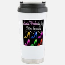 SOCIAL WORKER DIVA Stainless Steel Travel Mug