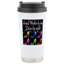 SOCIAL WORKER DIVA Travel Coffee Mug