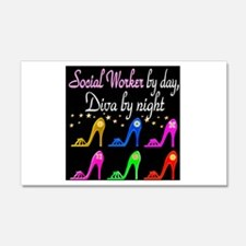 SOCIAL WORKER DIVA Wall Decal