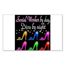 SOCIAL WORKER DIVA Decal