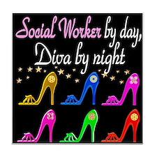 SOCIAL WORKER DIVA Tile Coaster
