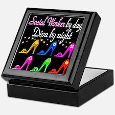SOCIAL WORKER DIVA Keepsake Box