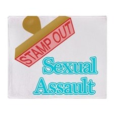 Sexual Assault Throw Blanket