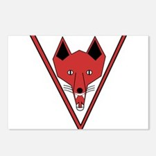 u-255_Grinning Fox.png Postcards (Package of 8)
